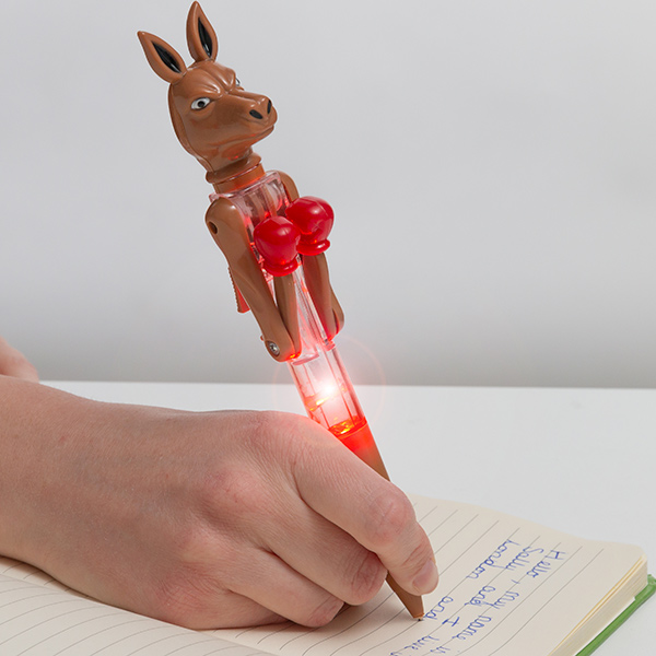 Image of   Kænguru Boxer Kuglepen med LED