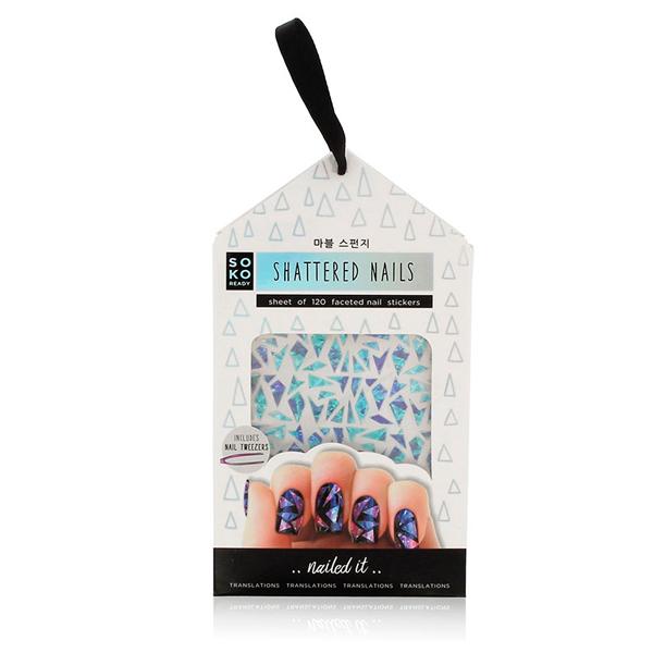 Image of   Klistermærker til Negle Shattered Nails Soko Ready (120 uds)