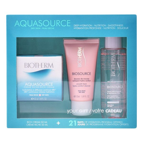 Image of   Kosmetik sæt til kvinder Aquasource Creme Ps Biotherm (3 pcs)