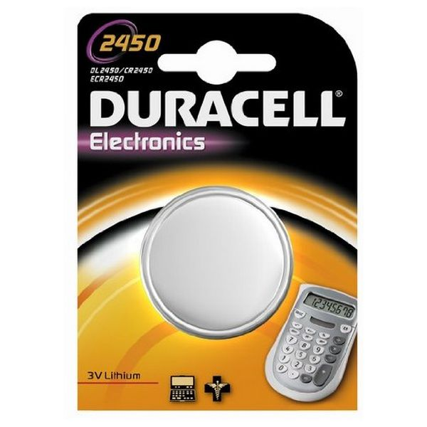 Image of   Lithium Button Cell Battery DURACELL DRB2450 CR2450 3V