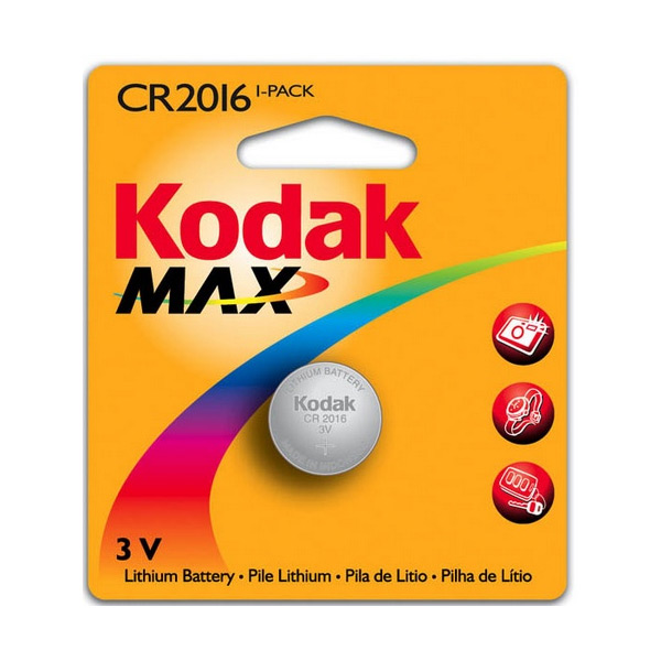 Image of   Litium knap-cellebatteri Kodak KCR2016 3 V Sølv