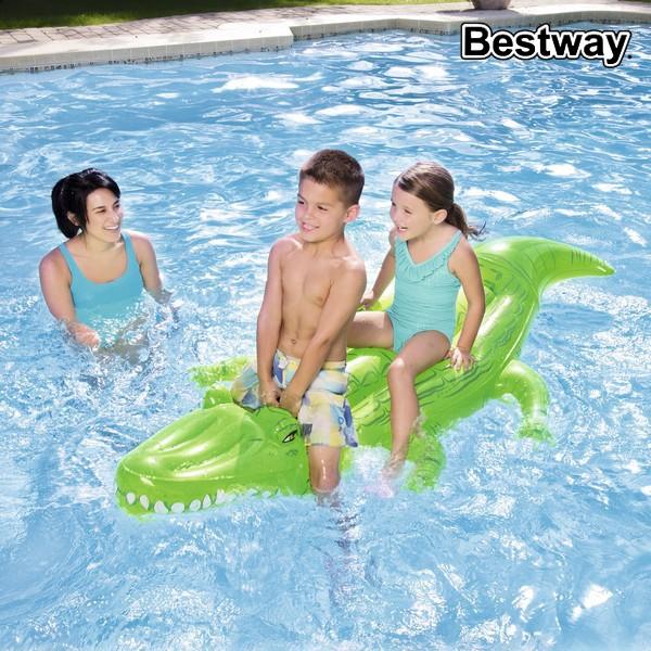 Image of   Luftmadras Bestway 41011 (203 x 117 cm) Krokodrille