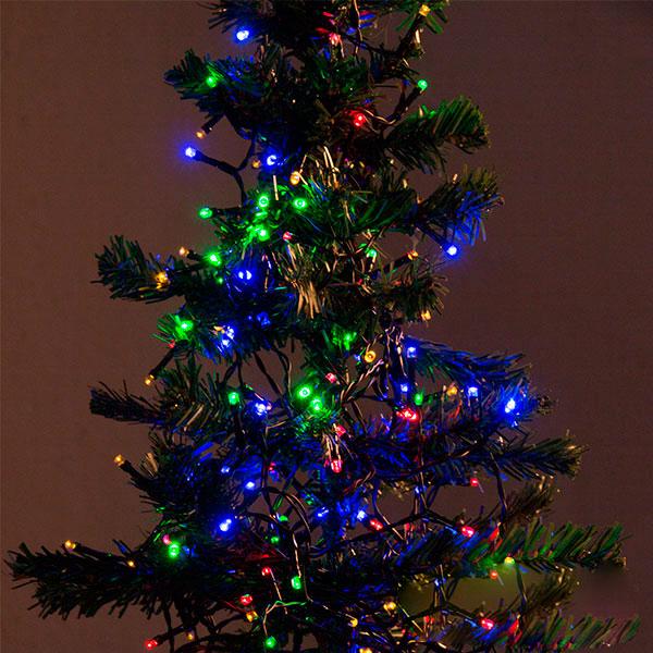 Image of   Multifarvede Julelys (192 LED)