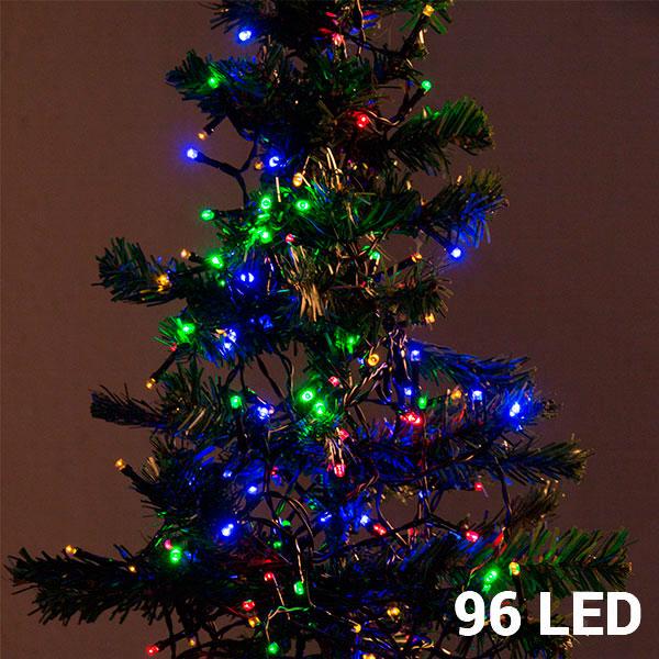 Image of   Multifarvede Julelys (96 LED)