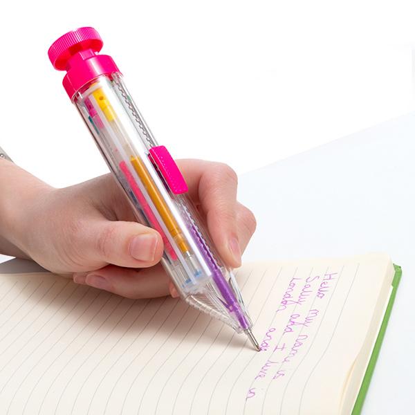 Image of   Multifarvet Kuglepen med Regnbue Glitter