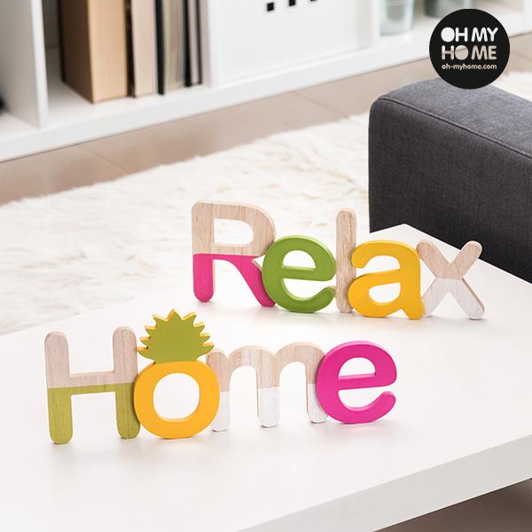 Image of   Oh My Home Træskilt (Pakke med 2)