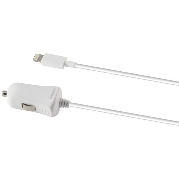 Image of   Oplader til bilen Lightning 1a iPhone Hvid