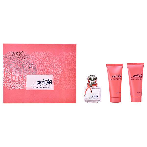 Image of   Parfume sæt til kvinder Viaje A Ceylan Adolfo Dominguez 06081 (3 pcs)