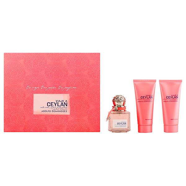 Image of   Parfume sæt til kvinder Viaje A Ceylan Adolfo Dominguez (3 pcs)