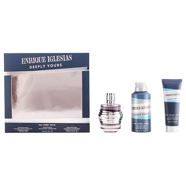 Image of   Parfume sæt til mænd Enrique Iglesias Deeply Yours Man Singers 92535 (3 pcs)