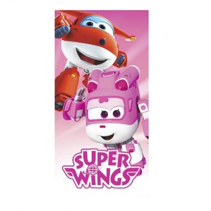 Image of   Pink Super Wings Strandhåndklæde