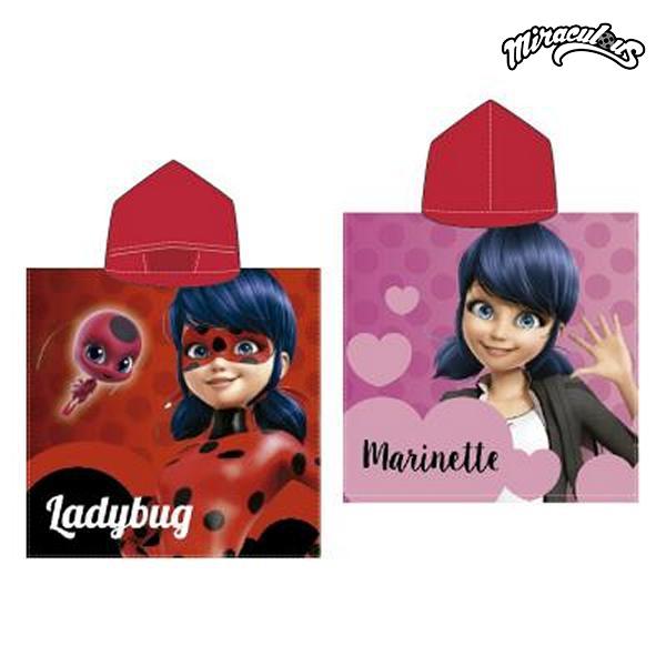 Image of   Poncho-håndklæde med Hætte Lady Bug 778