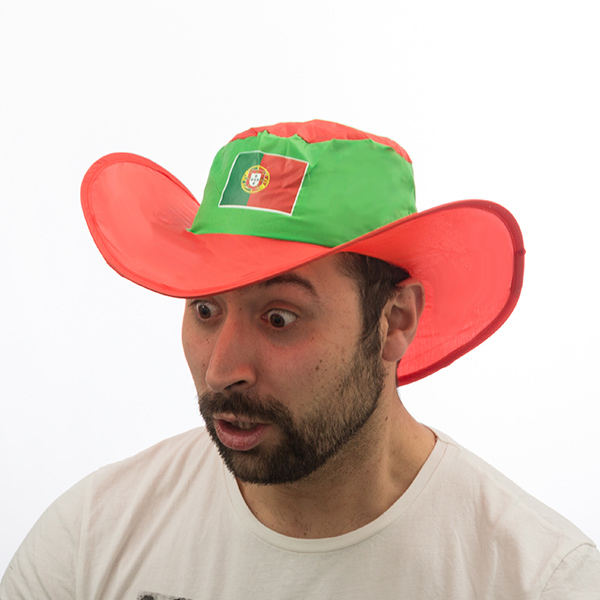Image of   Portugisisk Flag Foldbar Hat