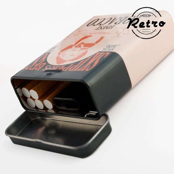 Image of   Retro Cigaretpakke Metal