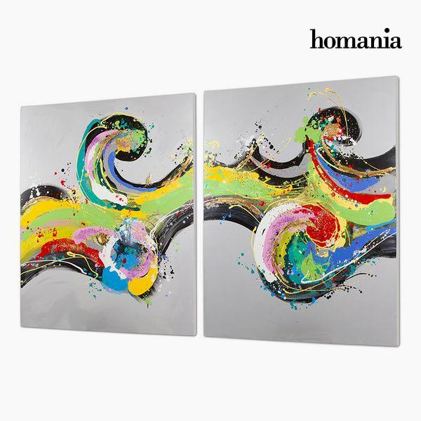 Image of   Sæt med 2 oliemalerier (120 x 3 x 150 cm) by Homania