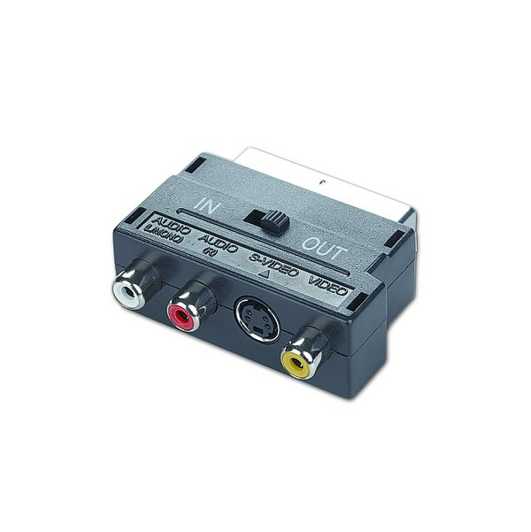 Image of   SCART til RCA / S-Video Tovejs-adapter GEMBIRD CCV-4415 Sort