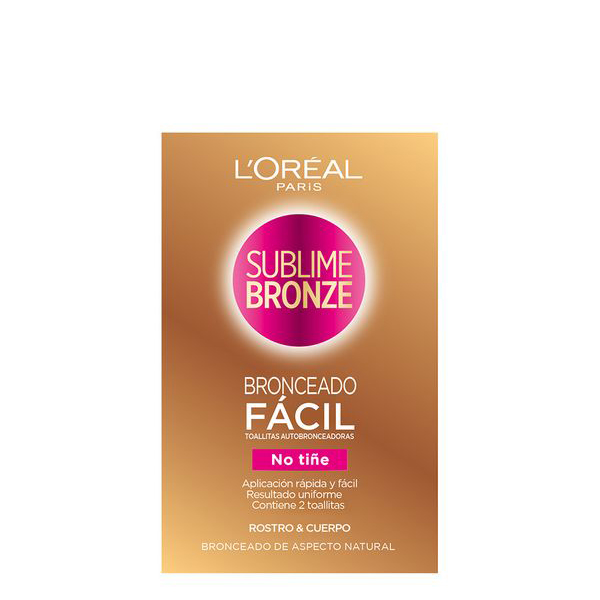 Image of   Self-bronzing håndklæder Sublime Bronze L'Oreal Make Up (2 uds)