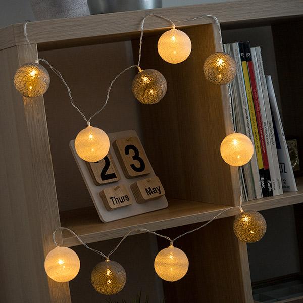 Image of   Sfære LED Guirlande (10 LED)