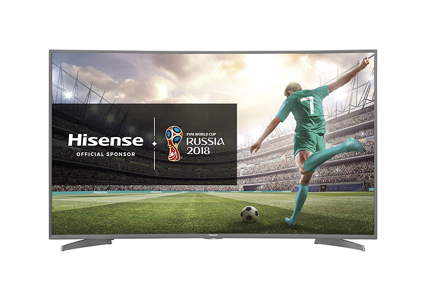 "Image of   Smart TV Hisense H55N6600 55"" 4K Ultra HD LED WIFI HDR Sølv Kurve"
