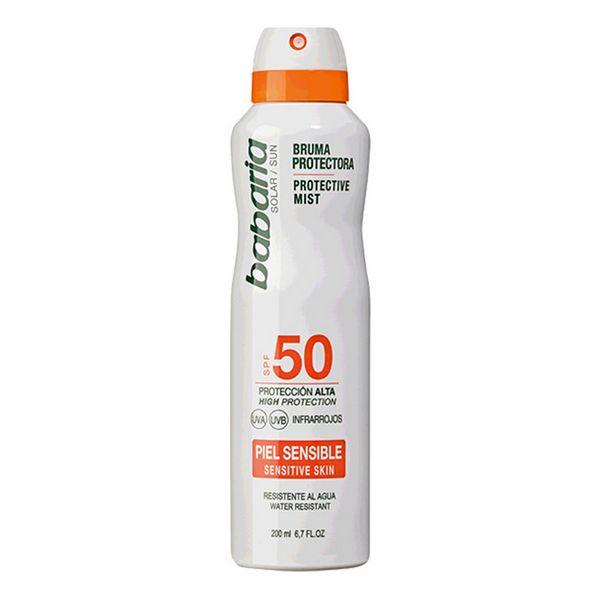 Image of   Solbeskyttelse - spray Babaria Spf 50 (200 ml) Følsom hud