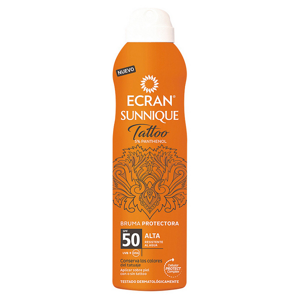 Image of   Solbeskyttelse - spray Tattoo Ecran (250 ml)