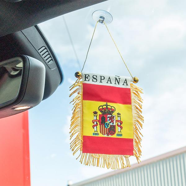 Image of   Spansk Flag med Sugekop