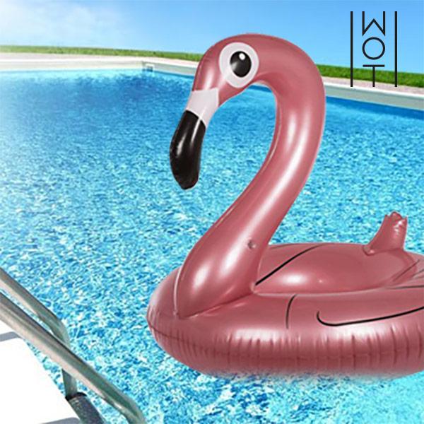 Image of   Summer Wagon Trend Oppustelig Gummiring Flamingo