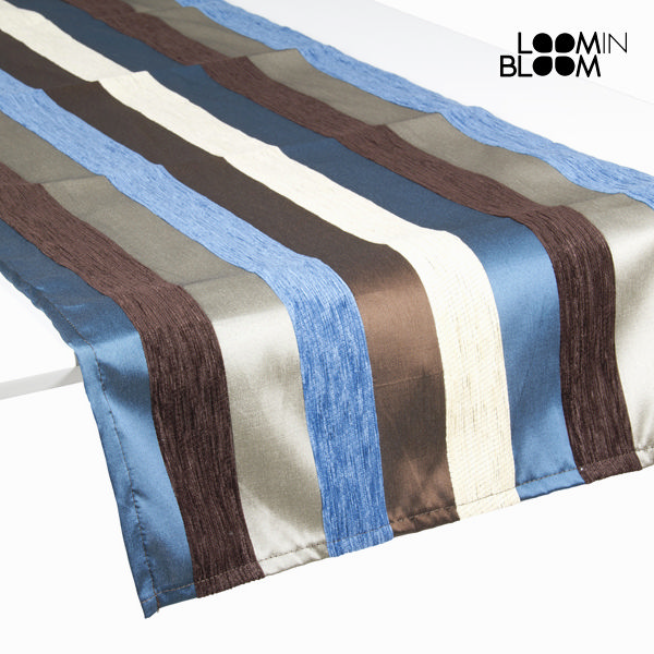 Image of   Table Runner Blå (135 x 40 cm) - Colored Lines Samling by Loom In Bloom
