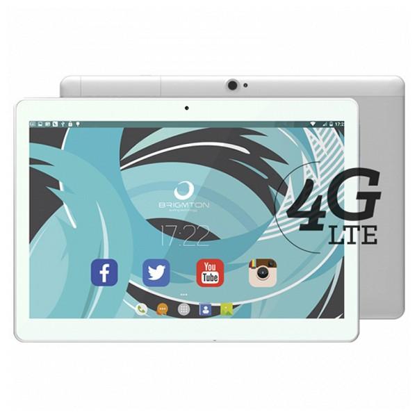 "Image of   Tablet BRIGMTON BTPC-1023OC4GB 10"" IPS Quad Core 1.5 GHz 32 GB 2 GB RAM DUAL SIM 4G 5000 mAh Hvid"