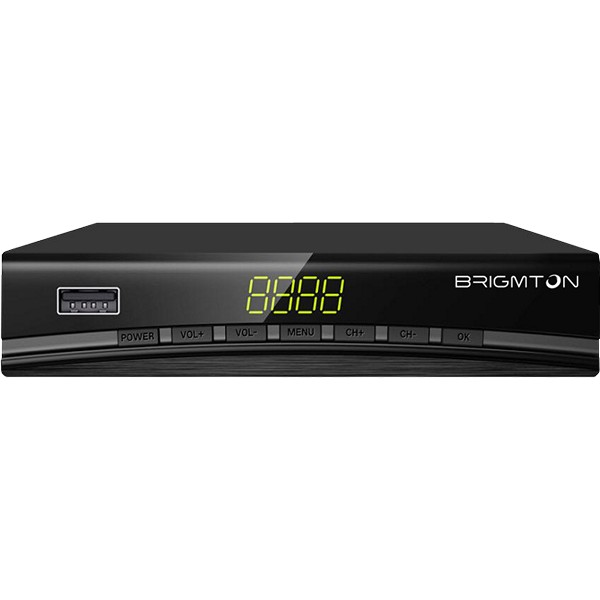 Image of   TDT-tuner BRIGMTON BTDT2-918 Full HD USB HDMI Sort