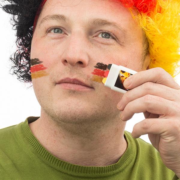 Image of   Tysk Flag Ansigtsmaling