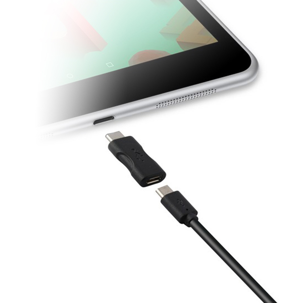 Image of   USB 2.0 til USB-C 3.1-adapter Sort