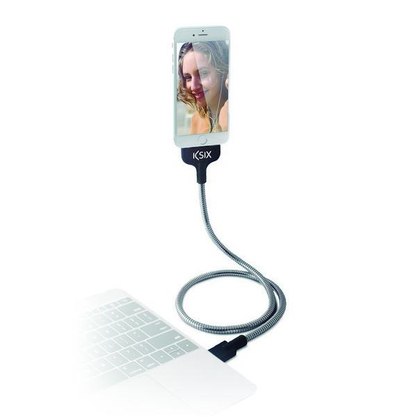 Image of   USB-kabel til Micro USB Flexteel 1 m Rustfrit stål