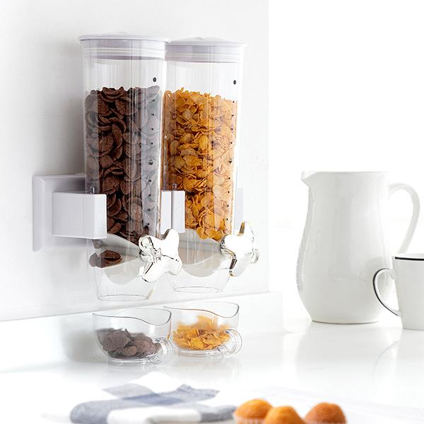 Image of   Vægmonteret dobbelt morgenmadsbeholder