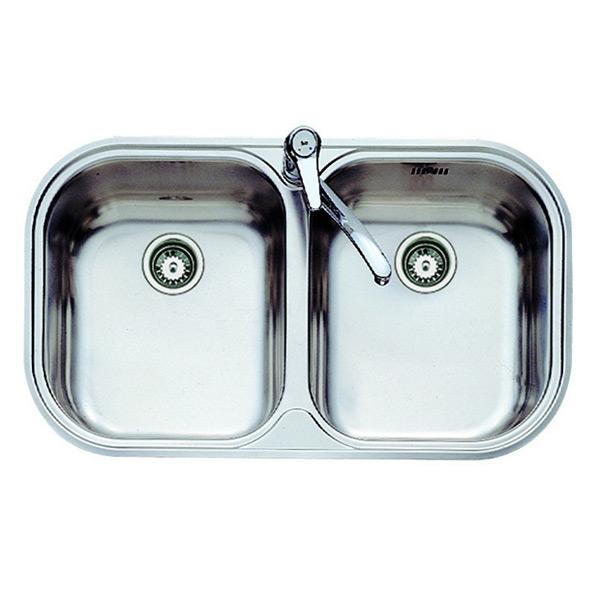 Image of   Vask med to rum Teka 11107028 STYLO 2C Rustfrit stål